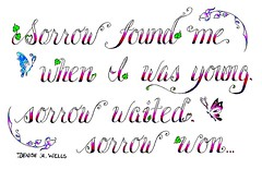 Sorrow tattoo design by Denise A. Wells (Denise A. Wells) Tags: flowers blackandwhite flower tattoo pencil sketch vines artwork colorful artist heart drawing girly lettering tattoodesign thenational tattooflash calligraphytattoo customlettering tattoophotos beautifultattoo scripttattoo nametattoos tattooimages tattoolettering tattooimage tattoophoto tattoopicture musictattoos tattoodesignsforwomen prettytattoo lyricstattoo deniseawells creativetattoos customtattoodesign uniquetattoodesigns lyricstattoos prettytattoodesigns girlytattoodesigns nametattooideas prettytattoodesign detailedtattooscript eleganttattoodesigns femininetattoodesigns cooltattoodesigns calligraphylettering uniquecalligraphydesign cursivetattoolettering fancycursivetattoolettering tattooalphabet sorrytattoo thenationalsorrow
