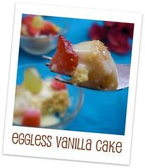 Valentine dessert-Light vanilla cake and fruit custard