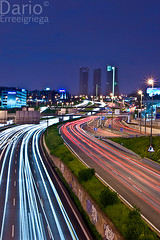 A-1 Highway (Deaerreio) Tags: madrid road cars skyline buildings cuatro lights luces edificios highway long exposure carretera sony business vehicles autopista area rey rays a1 garcia alpha nacional coches skycrapers exposicion larga torres vehiculos rayos rascacielos dario 550 ctba erre aplha estelas erreeigriega eigriega geaerreceia