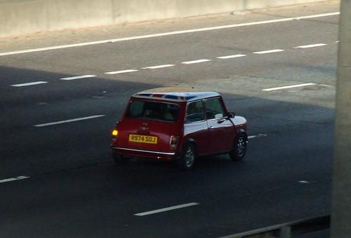 Mini Cooper Classic Red. 1997 Classic Red Rover Mini Cooper