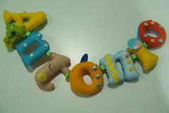 Letrinhas... (linhasebolinhos) Tags: felt garland softies guirlanda feltro stuffies letras letrinhas infantilkawaii