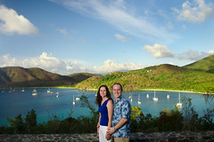 Overlooking Maho Bay, St. John, US Virgin Islands USVI, Virgin Islands National Park (Carl's Photography) Tags: blue summer sky people man tree clouds landscape iso200 nikon outdoor tripod bluesky stjohn carl becky processing tropical caribbean gps f80 tropics virginislands lightroom usvi individuals mahobay virginislandsnationalpark stjohnusvirginislands sb800 remoterelease 18200mmf3556gvr adobelightroom strobist 1125sec irremote sb900 umbrellashootthrough d7000 1125secatf80 43inchshootthroughumbrella nikond7000 gettyartistpicks adobephotoshopcs5 nikonsg3irirpanel