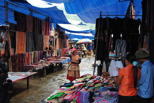 Colorful Market in Bac Ha, Vietnam