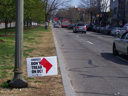 Congress: Don't Tread on DC! Advocacy sign, Pennsylvania Avenue SE by rllayman