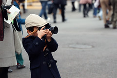 Getting an Early Start (torode) Tags: street boy leather japan zoo kid nikon focus child ueno candid cap strap manual 50 indoctrination a900 niftyfifty sal70400g bentorode benjamintorode