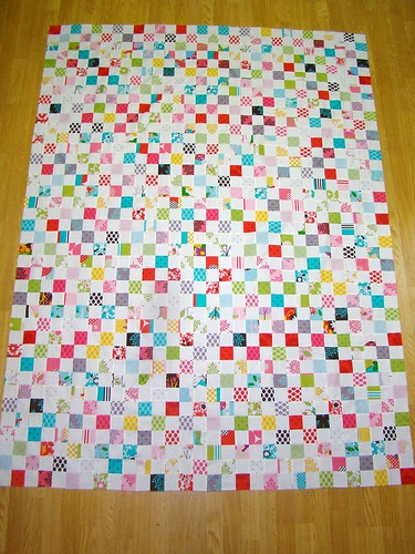 quilt top p.s. i quilt postage stamp quilt along