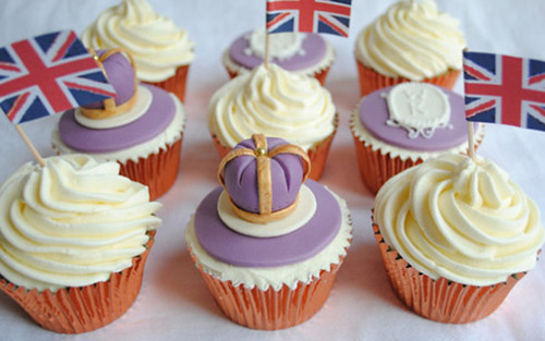 5602991588 299f2d9995 Royal Wedding, British Cupcakes for Prince William and Kate Middleton   Or the Queens Jubilee!