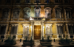 Lonely Shadows - (HDR Rome, Italy) (blame_the_monkey) Tags: longexposure travel italy streets rome roma history architecture night photoshop dark photo nikon europe italia tripod wideangle pic architectural historic nighttime blended nik digitalphoto hdr highdynamicrange d3 hdri blend topaz photoshopeffect superwideangle postprocessing travelphotography dynamicrangeincrease ultrawideangle travelphoto photomatix digitalblending tonemapped tonemapping 1424 hdrphoto niksoftware detailenhancer topazadjust blamethemonkey elilocardi