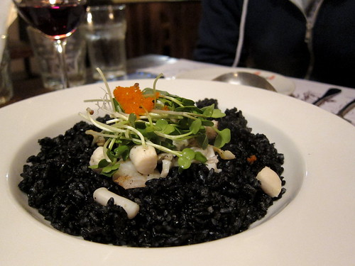 squid ink rice pilaf