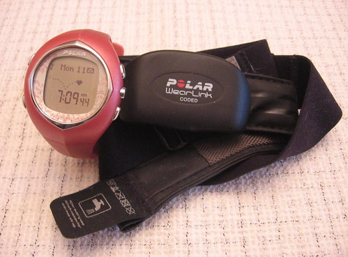 Pink heart rate monitor