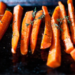 Thyme Roasted Carrots with Goat Cheese