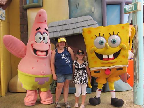 Meeting Spongebob and Patrick