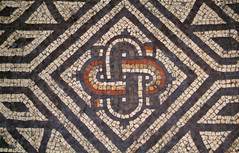 Knot motif (sallycat101) Tags: uk art history sussex ancient ruins roman mosaic villa bignor archeaology