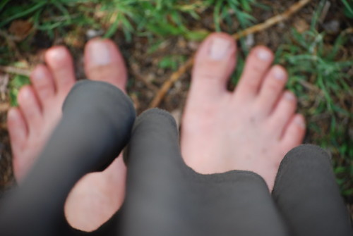backyard feet.
