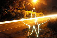First and only attempt at a Star lol it was too cold! (kc_y0 (Away for a while)) Tags: light silly night fun star long exposure