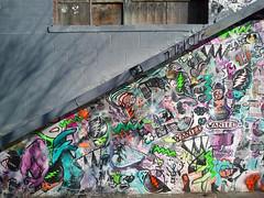 wanted (chelseafb) Tags: nyc usa streetart ny newyork pastedpaper brooklyn grey gris graffiti sticker mural grafitti stickers gray urbanart williamsburg graff autocollant grafite papiercollé arteurbana