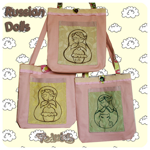 Russian dolls bags family