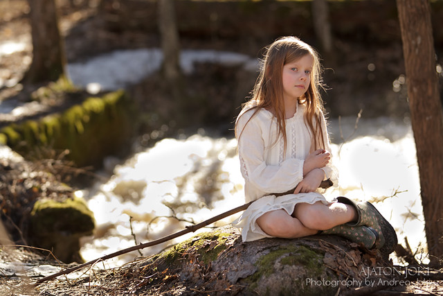 Full sun shoot outdoors in Espoo Portrait