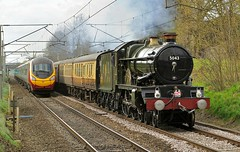a near run thing (midcheshireman) Tags: castle train cheshire steam locomotive mainline greatwestern 5043 winsford 50xx