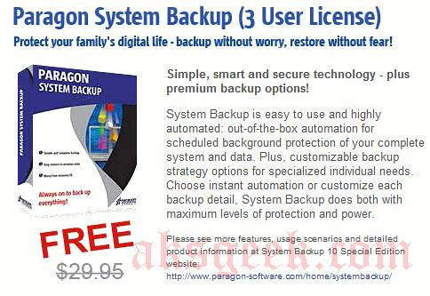 Paragon System Backup-giveaway