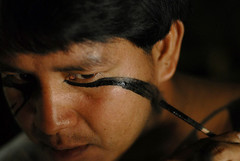 Dia do ndio III/ Indians Day III (Lucille Kanzawa) Tags: indian makeup maquiagem pintura ndio brazilianindian kuikurus ndiobrasileiro indianmakeup