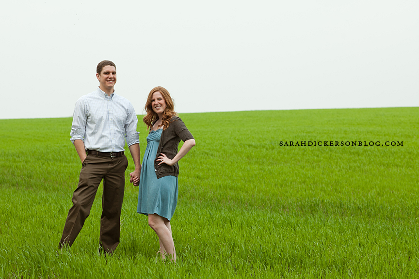 Kansas City country engagement photos