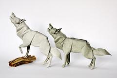 Goodbye Wolves! (cavemanboon*) Tags: singapore origami malaysia goodbye wolves boon  cavemanboon forjapanquakerelief modifiedalbertinohyenabase