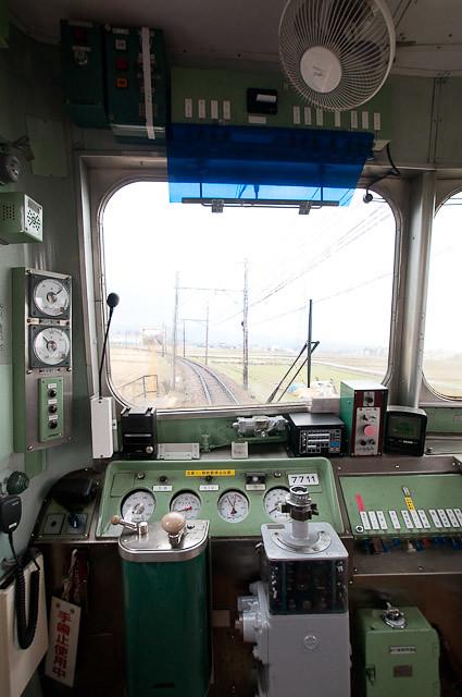北陸鉄道7700系 7711 運転台