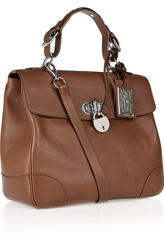 Ralph Lauren Collection Tiffin leather tote