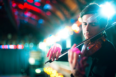 Jonathan Morton, Scottish Ensemble (TGKW) Tags: old portrait people musician playing scotland colours artistic bokeh jonathan glasgow arts scottish violin flare director ensemble violinist morton fruitmarket 8170