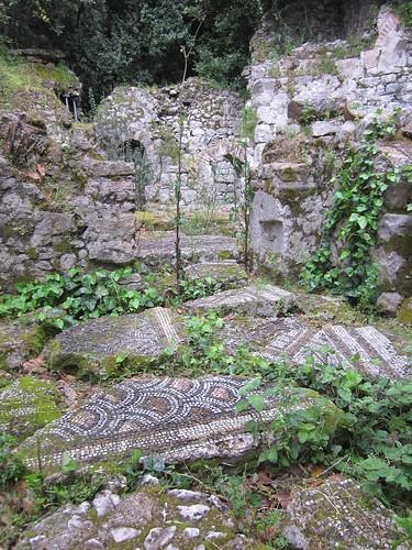 1000 year old tiles, Olympos, Turkey