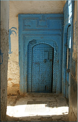 blue door of the mellah (mhobl) Tags: blue doors morocco maroc fes trentore