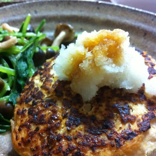 鶏肉と豆腐のハンバーグ #dinner
