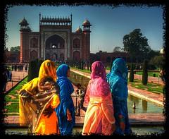 The colorful Taj Mahal