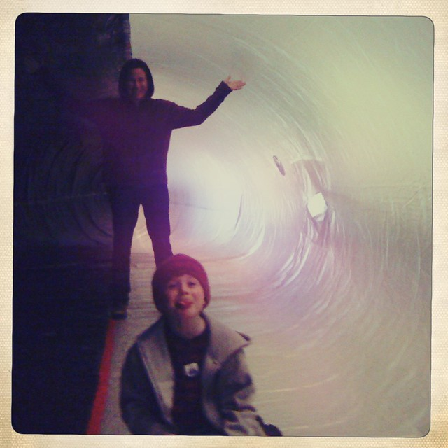 Karen & Henry in the belly of the whale.