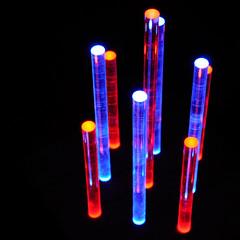 Red / Blue Table Top Night Light (LuxChroma) Tags: wood light art lights acrylic glow nightlights nightlight leds woodsculpture
