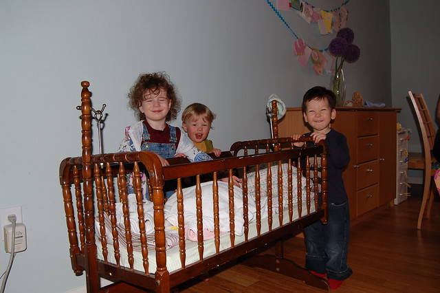 Toddler play group + a baby