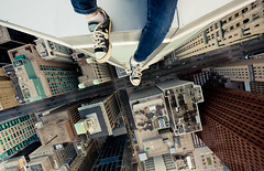 i'll make ya famous (tomms) Tags: street city shoes downtown jen name badass converse chic tse rooftopping tgamphotodeskstreetscenes TGAM:photodesk=height