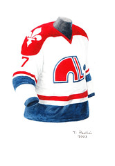 Quebec Nordiques 1974-75 jersey artwork (Scott Sillcox) Tags: art heritage history hockey vintage nhl artwork uniform jersey collectible throwback coloradoavalanche quebecnordiques originalsportsart