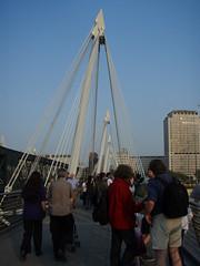 View from the Golden Jubilee Bridge facing Southbank Centre (a3rynsun) Tags: bridge london golden jubilee centre southbank goldenjubileebridge