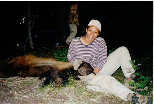 Krista spent two summers trapping and tagging black bear in Utah.