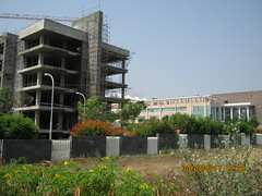 Under-construction new wing of Tech-Mahindra I...