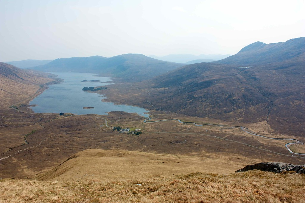 Loch Clunie and The Clunie Inn from the first ascent