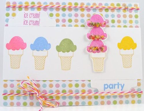 SOL May Ice Cream Party Card