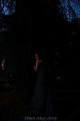 Her Last Strength (artos_thebear) Tags: blue selfportrait tree green me nature night dark fight nikon moody dress robe teal dramatic inner ill fabric sp despair strength flowing emotional sick fatigue emotive chronic helpless overcome artistry selfie weakness cfs d40 sarahallegra