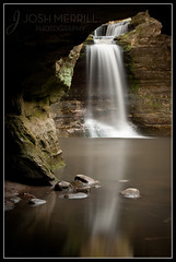Cascade Falls from the Caves, Matthiessen State Park (Josh Merrill Photography) Tags: statepark copyright nature water creek season landscape photography waterfall illinois spring places canyon il josh cave utica allrightsreserved starvedrock matthiessen merrill matthiessenstatepark 2011 matthiesen joshmerrillphotography