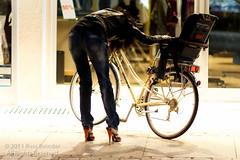 Riding Shoes? (Russ Beinder) Tags: street woman girl bike bicycle germany de shoes candid cycle hercules speyer badenwrttemberg bundesland romerjockey