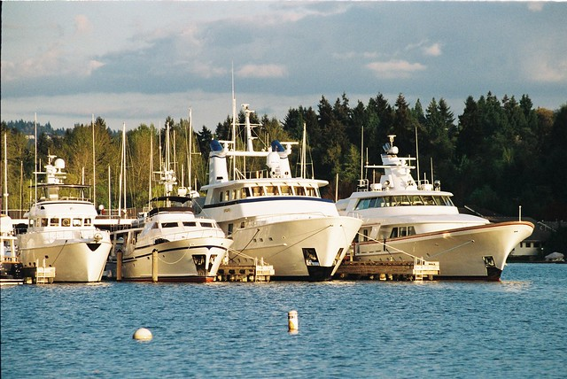 Boats on Meydenbauer Bay - Bellevue WA