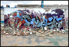 By ARYZ, SMASH137 (Thias (-)) Tags: barcelona terrain streetart wall painting graffiti smash mural mixedmedia spray urbanart espana painter graff aerosol espagne bombing barcelone spraycanart ambiance urbex pgc thias smash137 photograff aryz photograffcollectif