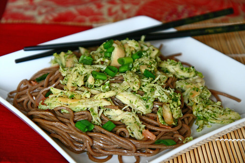 Honey Jalapeno Chicken with Sesame Soba Noodles